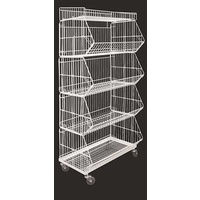 5 Basket Display System (White)