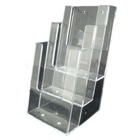 3 Tier DL Size Acrylic Brochure Holder