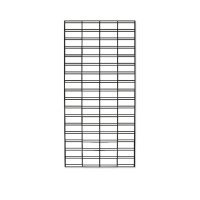 Slatesh Grid Panel 1500mm x 600mm - Chrome
