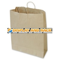 Large Brown Paper Carry Bag - 100pk