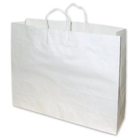 Boutique White Paper Carry Bag - 100pk