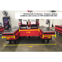 Checkout Register Dual Lane Unit-2nd Hand