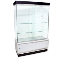 Frameless Glass Display Showcase LED Light & Storage 1200 W