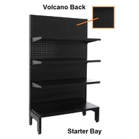 Black Gondola Shelving Single Sided