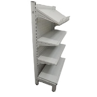 Narrow Single Sided Gondola Mesh Panel Back Shelving