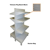Double Sided Gondola Metal Volcano Pegboard Back Shelving Bays