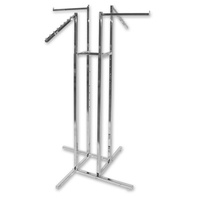 4 Way Clothing Rack - 2 Straight 2 Waterfall Arms