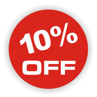 10% OFF Self Adhesive Label 100pk