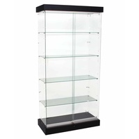 Frameless Upright Glass Display Showcase LED Lighting 1200mm x 410mm x 1870mm