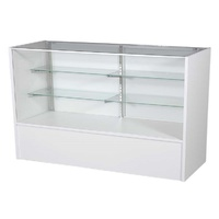 Timber & Glass Counter Showcase 1200mm - White
