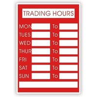 Trading Hours - 297mm x 210mm