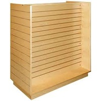 Slatwall Panel Gondola Unit 1200mm - Maple