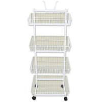 4 Basket Stand - White