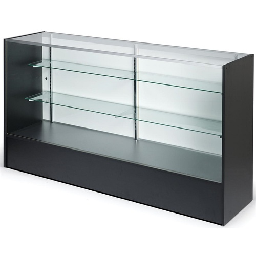 Timber & Glass Counter Showcase 1830mm - Black